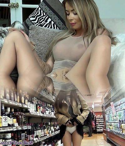 Hot pornstar nylon with jizz shot