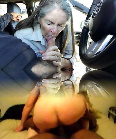 Grandma gargles in the car