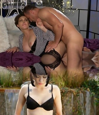 Mother Office woman in pantyhose wants rock hard cock deep inside her