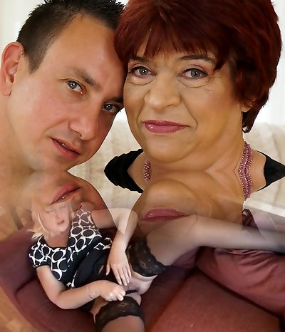 Grannie enjoys to ride on a young dick