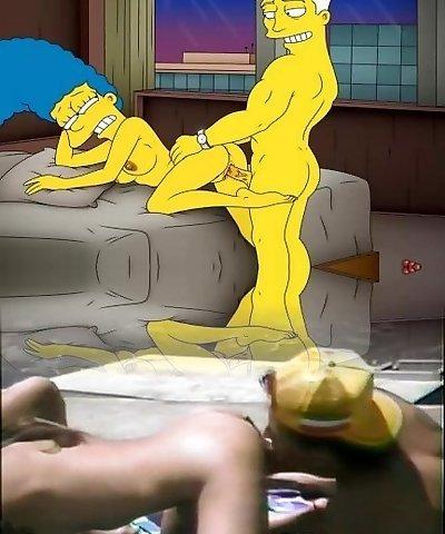 Cartoon Porno Simpsons Porn mummy Marge have