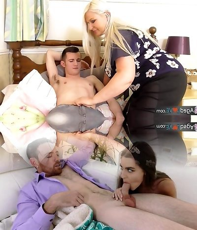 AGEDLOVE - Chubby mature Sammy screwed hard from youthful Sam