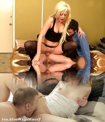Horny pornstar Courtney Taylor in finest mature, spycam sex scene