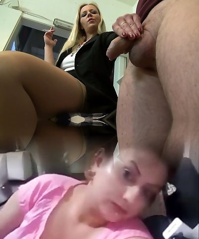 Housewifely buddy gets rewarded with a really ultra-cute blowjob performed by platinum-blonde