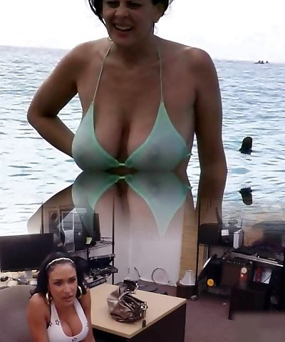 Super-steamy Milf in Bathing Suit at The Beach