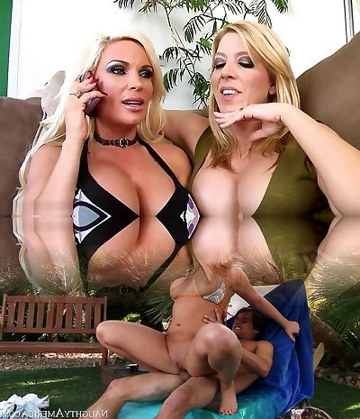 Kinky pornstars Gina Lynn and Lexi Lamour in finest facial, blondie porn movie