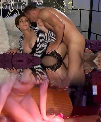 Mother Office woman in stockings wants rock hard dinky deep inside her
