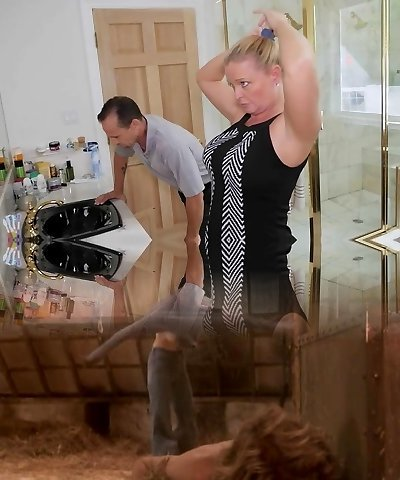 FamilyStrokes - Daughter Screws Step-Dad While Mommy Showers