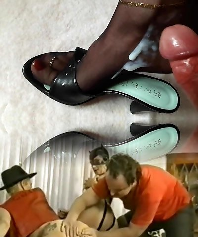 Soles in Nylons soaked in Cum and Pee