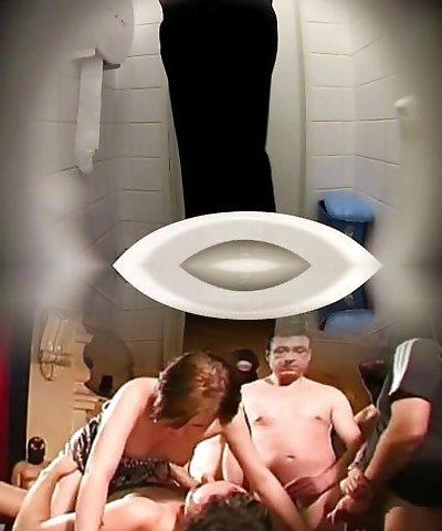 Voyeur public restroom