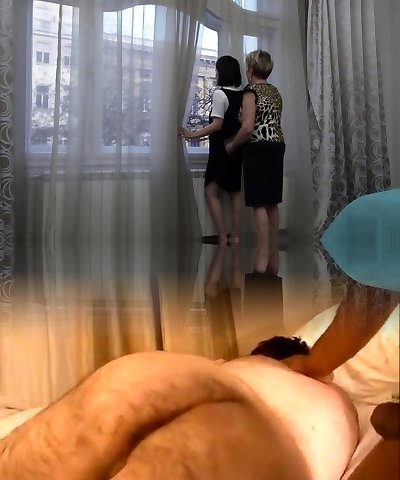 Insane mature lesbian has sex with a hot hairy stunner