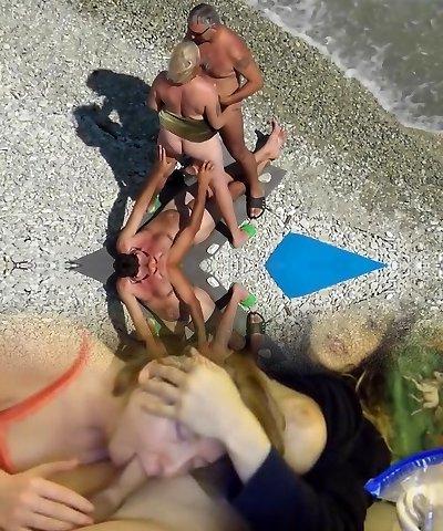 Horny Outdoor, Beach porn flick