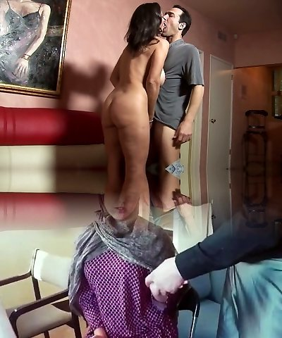 Fabulous big titted wife Persia Monir bends over as she loves doggy fuck a plenty of