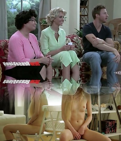 Hungry for cock mature housewives slobbering over killer dude