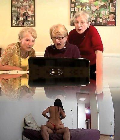 3 grannys having a sight..