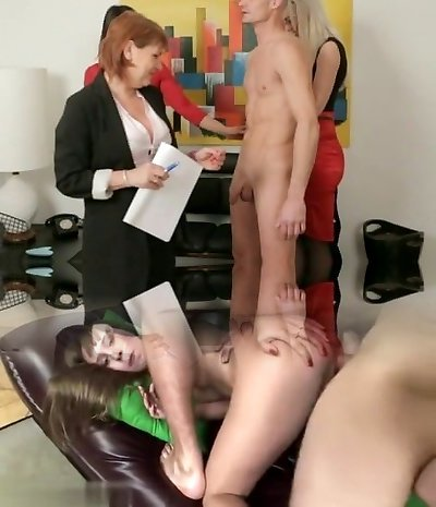 Cfnm milf group feel up naked boy