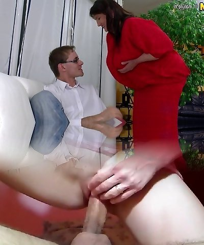 Humungous old granny penetrated hard by young boy
