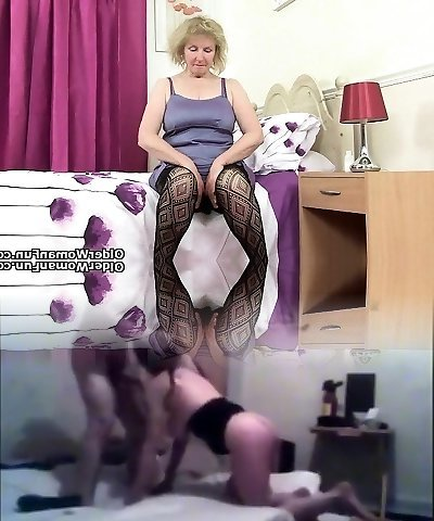 Brit grandmother Diana going solo in fishnets