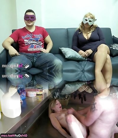 Giant breasted blonde want to fuck masked guy