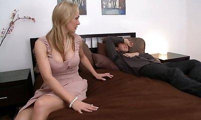 Blonde, Big Tits, Mature, Wife