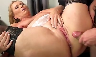 Blonde, Cumshots, Straight, Stockings