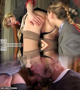 Lesbians prefering anal Cable-on action