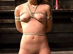 Every once in awhile we have a girl come through the doors that really likes to be degraded, I mean REALLY likes it. Milcah is a local submissive looking for an intense real experience with lesbian BDSM and Felony delivers. Milcah is shown no mercy and gets exactly what she came here for. Uncomfortable bondage, spanking, hard caning, squirting, foot worship, ass licking, pussy fucking and strap-on anal in bondage!