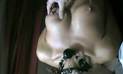 Marionette has fishhooks in tits