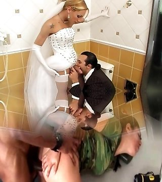 She-male Bride Fucks Best Guy Before Wedding