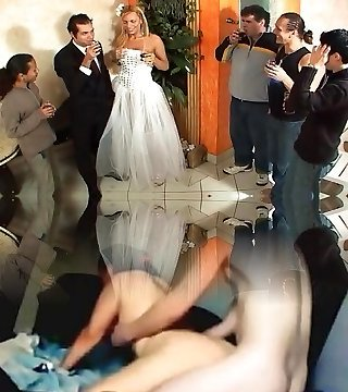 Tranny bride fuckfest after wedding