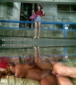 Thai Shemale Wanks For Stardom