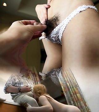 Thai ladyman blows a thick penis