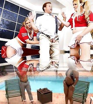 Sasha Ligaya, Chris Dano, Jesse Flores, Astrid Shay in Transsexual Cheerleaders #04