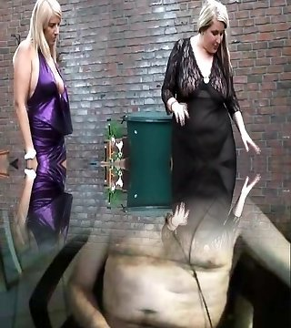 2 women and 1 shemale giving it to sub guy