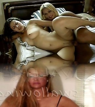 Blond shemale and mega-bitch shagging