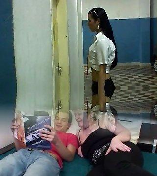Tranny student porks her principal