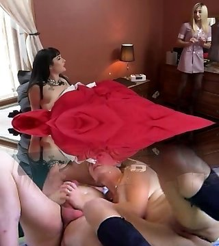 Business Damsel Fucks Cleaning Lady