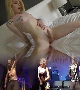 Ts Annabelle Lane cute ash-blonde, sexy feet, masturbation