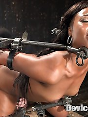 Chanell starts in an inverted ankle suspension. Her body is attacked with a flogger to soften up her flesh and make it more sensitive to the pain that is coming. Her nipples are stretched and she is thrown around like the piece of meat that she is.Next she is in a predicament that makes her choose between breathing or suffering from fatigued muscles. Her sensitive soles are beaten and abused until she can take no more. Her legs and tits fall under the same torment, then she is made to cum.In the final scene we push her body to it's furthest limit with another predicament that almost breaks our fragile little slut. She is pushed tormented and used up then fucked into one final orgasm that leaves her exhausted.