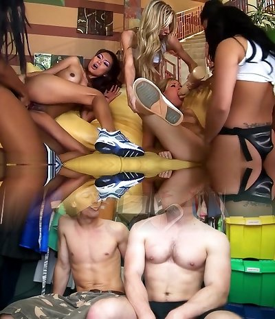 Exotic pornstars Lana Croft, Ruby Knox and Marie Luv in amazing getting off, blonde hook-up clamp