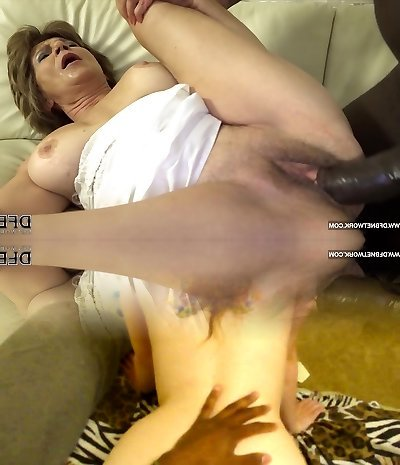 Granny has sex with black man and likes ass drilling