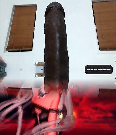 Teen anal big black dildo Part 1