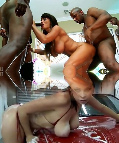 Naughty latina chick got fucked by a gang of black perverted jerks
