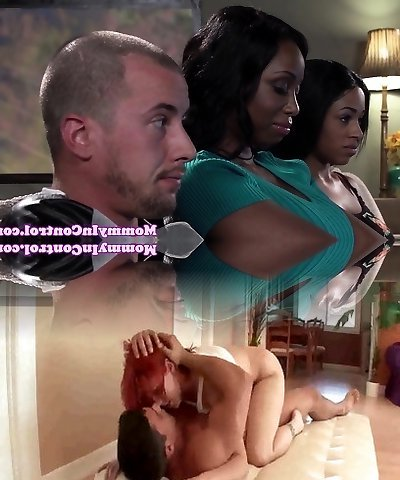 Bigass ebony milf doggystyled in threeway