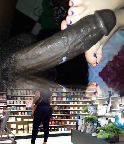 German woman getting big chisel that is African