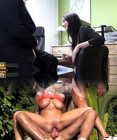 LOAN4K. Flawless ambitious girl Kristy Black appears in...