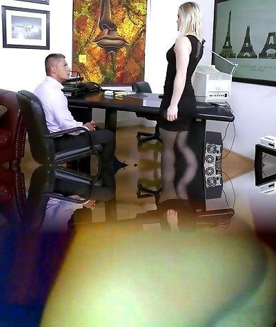 Secretary Ash Hollywood Hard Banging In Sexy Ebony Stockings