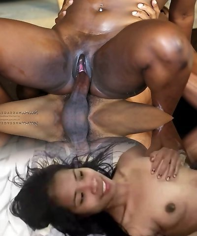 Wonderful ebony hottie Skyler Nicole massages lustful African shaman's strong pipe