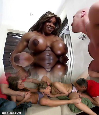 Amazing pornstar Yvette Bova in fabulous ebony, big tits xxx pin