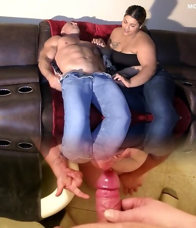 Sucking my Step Daddy's Dick - Interracial